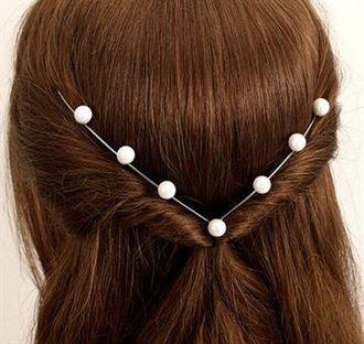 韩版贝珠简约发箍 女头饰 细头箍韩国发带发卡发前夹发夹